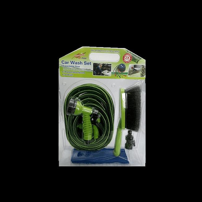 50FT Expandable Garden Hose 4 in 1 car wash set --No.(WE75002)