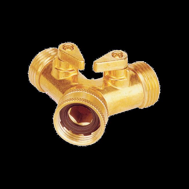 Brass Dual Shut-Off -(No.Y-320)