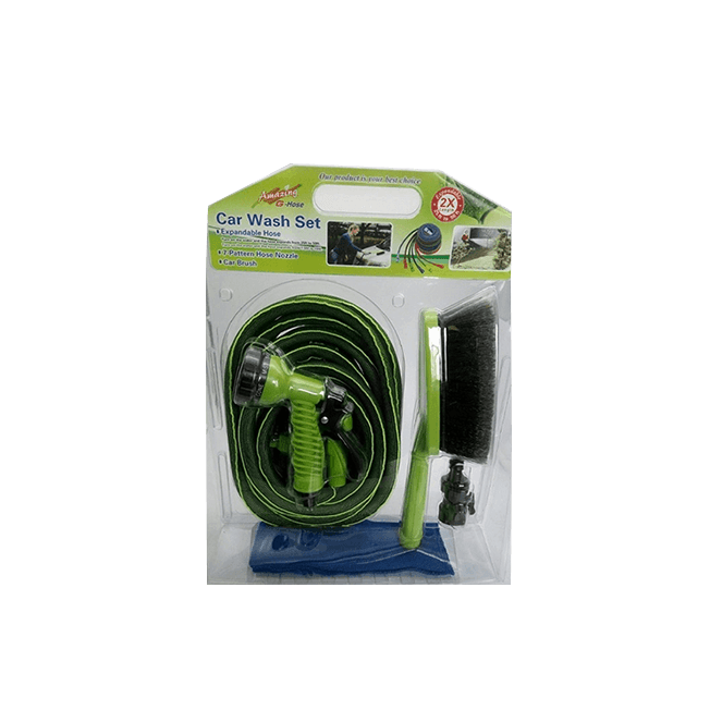 50FT Expandable Garden Hose 4 in 1 car wash set --No.(WE75002)